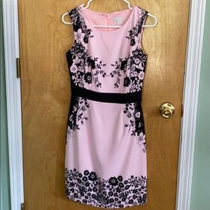 New York and Co Pink with black flower print